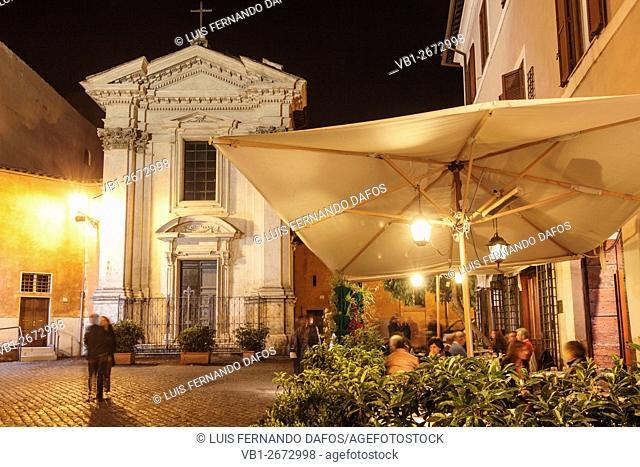 Trastevere at night, Rome, Italy
