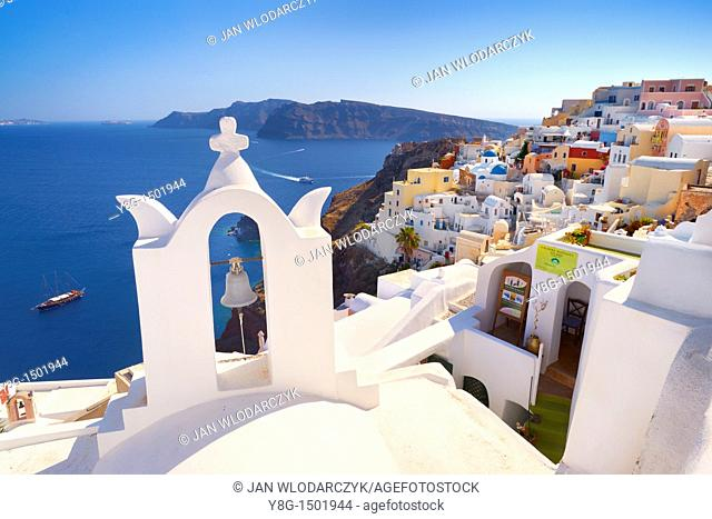 Oia village, Santorini Island, Cyclades, Greece