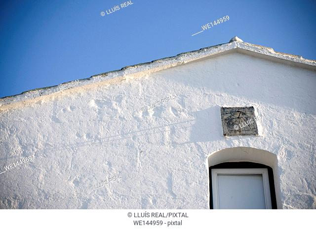 Whitewashed house