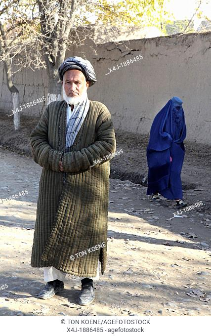 an old afghan man in Kunduz, Afghanistan