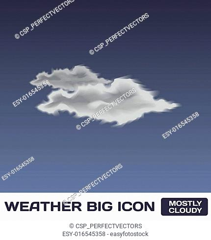 Vector Mostly Cloudy Icon