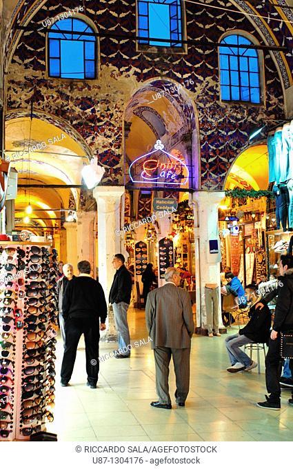 Turkey, Istanbul  Interior of Grand Bazaar