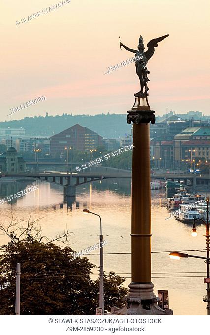 Dawn in Prague, Czech Republic