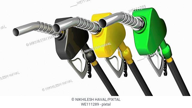 Petrol gas nozzles