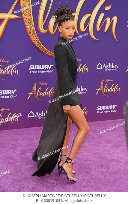 "Willow Smith at The World Premiere of Disney's """"Aladdin"""" held at El Capitan Theatre, Hollywood, CA, May 21, 2019. Photo Credit: Joseph Martinez / PictureLux"