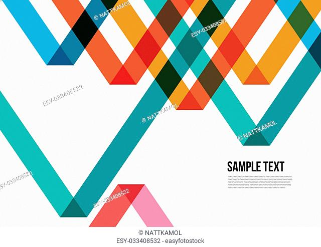 Abstract Colorful Triangle Pattern. Background , Cover , Layout , Magazine, Brochure , Poster , Website , Namecard , etc