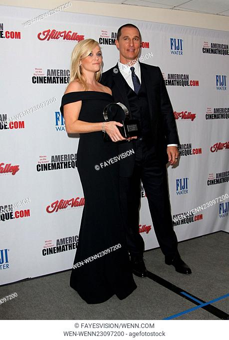 29th American Cinematheque Award honoring Reese Witherspoon - Press Room Featuring: Reese Witherspoon, Matthew McConaughey Where: Los Angeles, California
