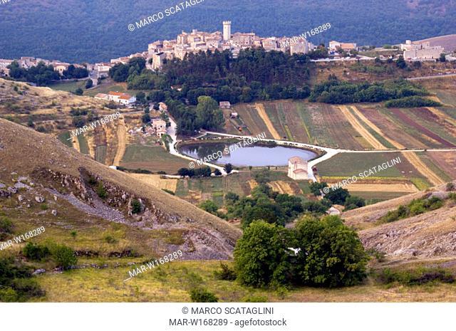 europe, italy, abruzzo, gran sasso and monti della laga national park, santo stefano di sessanio