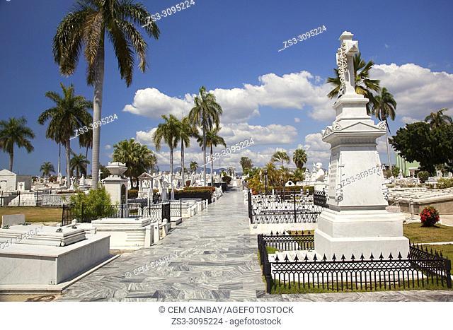 View to the Sta. Ifigenia Cemetery-Cementerio Sta. Ifigenia at the city center, Santiago de Cuba, Cuba, Central America