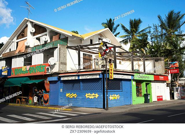 Houses in Saint Leu. Saint-Leu is a commune in the French overseas department of Réunion. It is located on the west side of the island of Réunion