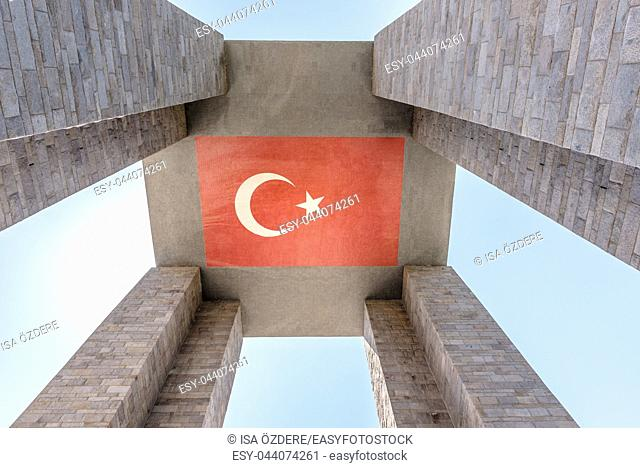 Canakkale Martyrs' Memorial is a war memorial commemorating the service of about Turkish soldiers who participated at the Battle of Gallipoli,Canakkale,Turkey