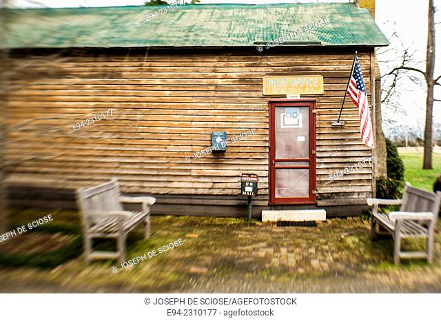 An old country clapboard house serving as a small post office facility, Alabama USA
