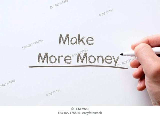 Human hand writing make more money on whiteboard