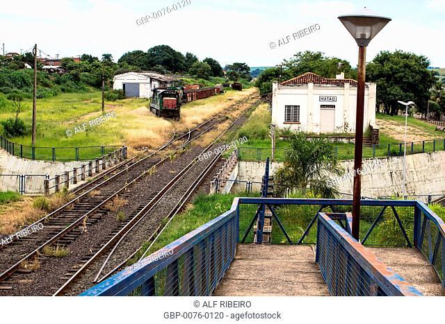 Maneuver patio, Railway station, Matão, São Paulo, Brazil