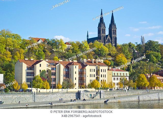 Vysehrad, with Saints Peter and Paul Basilica church, Prague, Czech Republic