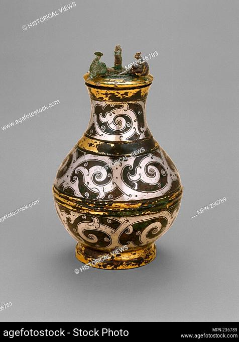 Covered Jar (Hu) - Eastern Zhou dynasty, Warring States period (480-221 B.C.), late 4th/3rd century B.C. - China reportedly from Jincun