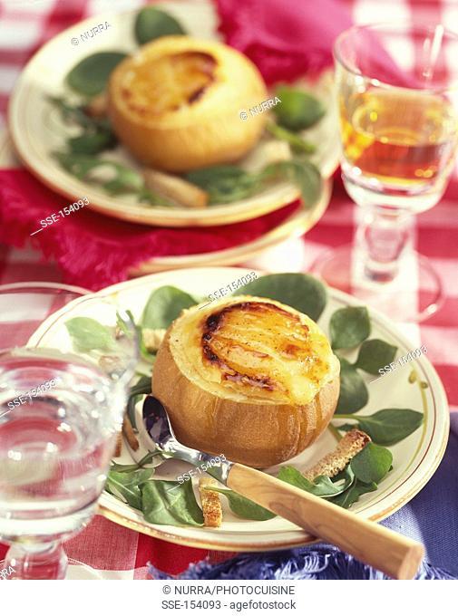 Baked apple with Crottin de Chavignol