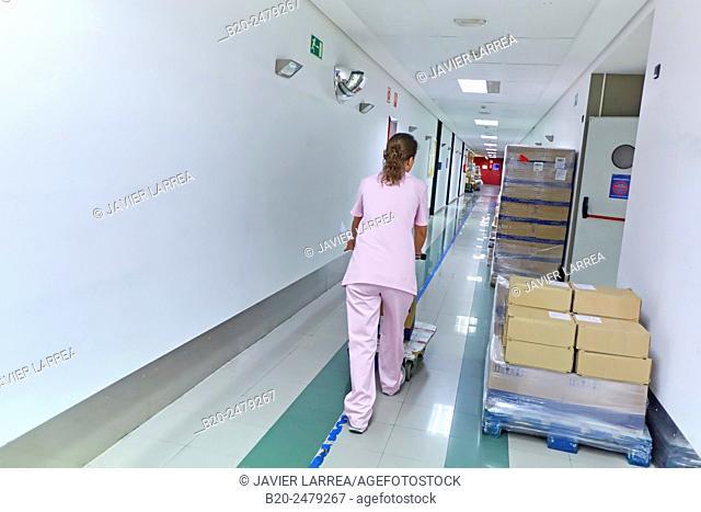 Preparation of drugs, Pharmacy, Hospital Donostia, San Sebastian, Gipuzkoa, Basque Country, Spain