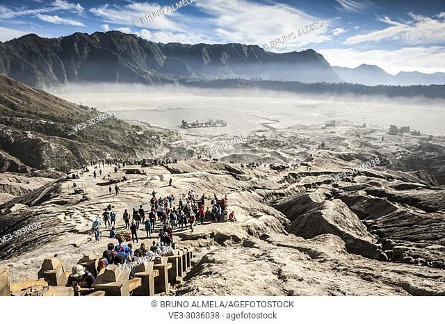 Stairs in Bromo's slope, Bromo Tengger Semeru National Park (East Java, Indonesia)