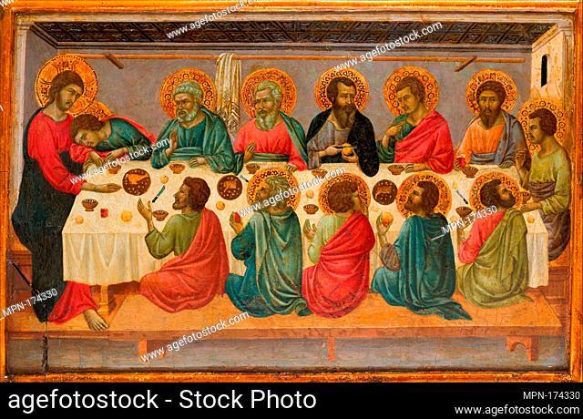 The Last Supper. Artist: Ugolino da Siena (Ugolino di Nerio) (Italian, Siena, active by 1317-died ?1339/49); Date: ca. 1325-30; Medium: Tempera and gold on...