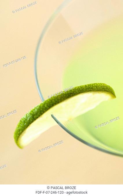 Close-up of a glass of lemon juice