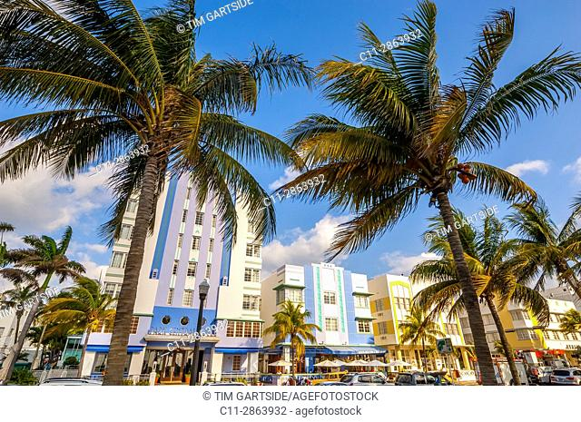 park central Hotel, South Beach, Ocean Drive,Miami, Florida, USA