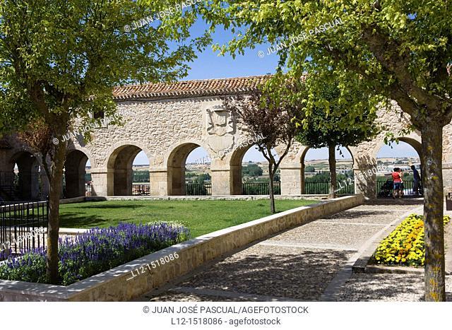 Mirador de los Arcos viewpoint, Santa Clara Square, Lerma, Burgos province, Castilla-Leon, Spain