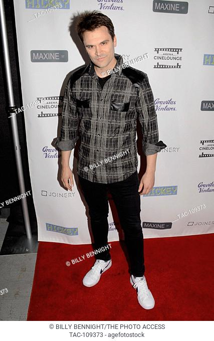 """Kash Hovey arrives at the premiere of Gravitas Ventures' """"""""Hickey"""""""" at Arena Cinelounge in Hollywood, California on January 6, 2017"""