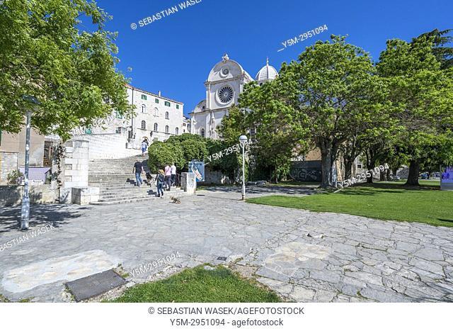 Cathedral of St. James, Sibenik, Sibensko-Kninska, Dalmatia, Croatia, Europe