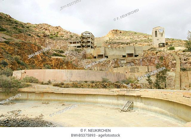 former gold mine Rodalquilar, Spain, Andalusia, Cabo De Gata National Park