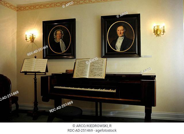 Music room Haniel Museum Duisburg-Ruhrort North Rhine-Westphalia Germany