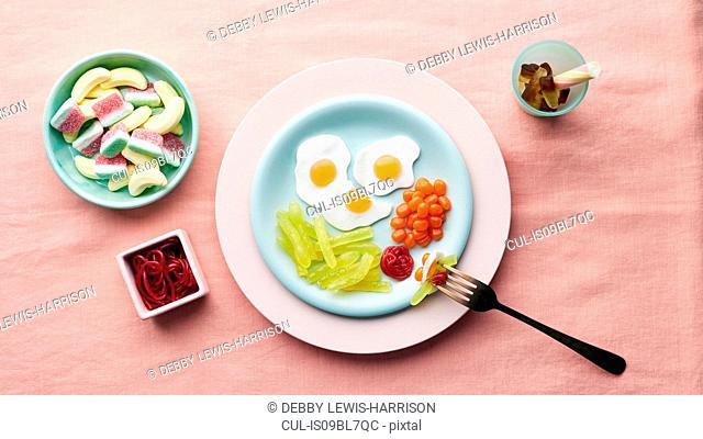 Play meal made of sweets