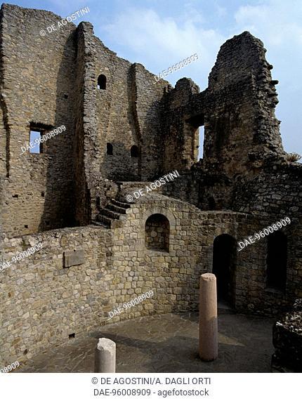 Ruins of Castle of Matilda of Canossa in Ciano d'Enza, Canossa, Emilia-Romagna. Italy, 10th century