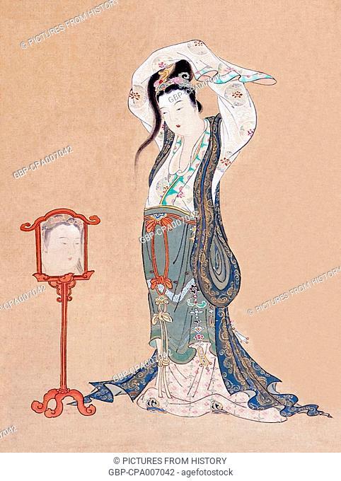 Japan: 'A Chinese Beauty', painting by Maruyama Okyo (1733-1795)