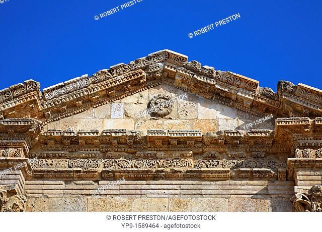 Hadrian's Arch at the Roman ruin of Gerasa, Jerash, Jordan
