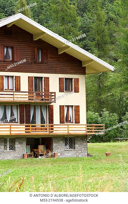 Summer vacation home in Alagna Valsesia. Province of Vercelli. Piedmont. Italy