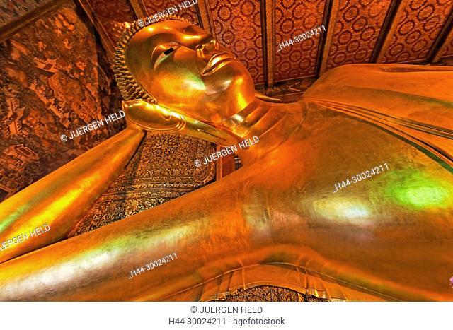 Giant Reclining Buddha, What Po, Bangkok, Thailand