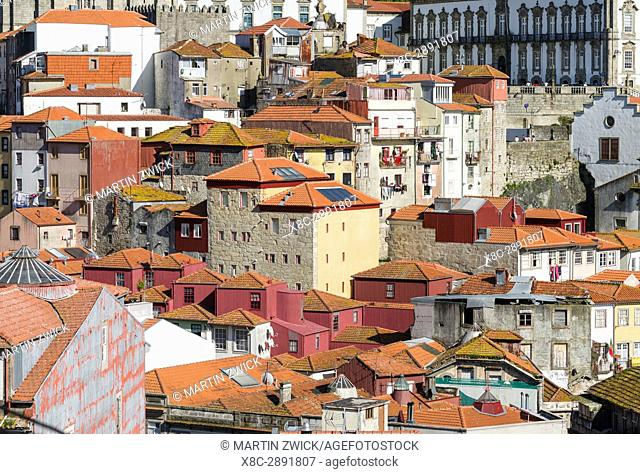 The old town. City Porto (Oporto) at Rio Douro in the north of Portugal. The old town is listed as UNESCO world heritage