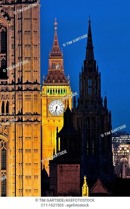 Big Ben, london, Houses, Parliament, Westminster, London, England, UK