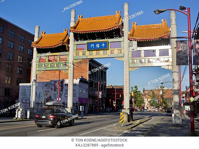 entrance of china town in vancouver