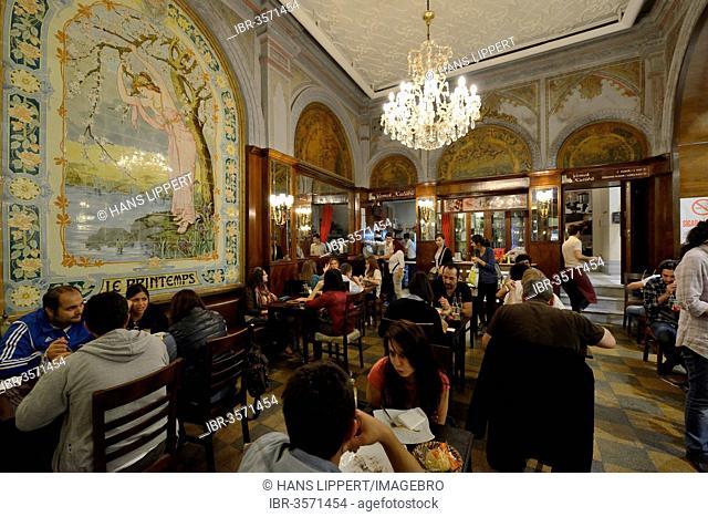 Art Nouveau cafe Yemek Kuluebue on Istiklal Caddesi or ?stiklal Avenue