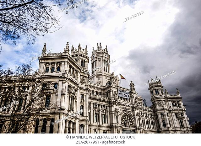 Post Office building at Plaza Cibeles in Madrid, Spain, Europe