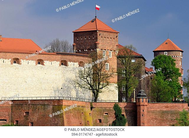 Wawel: View of the fortress, Krakow, Poland