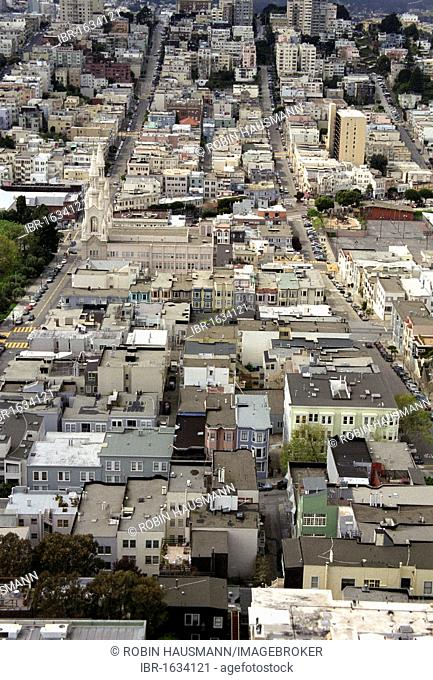 View of the steep streets of San Francisco, California, USA
