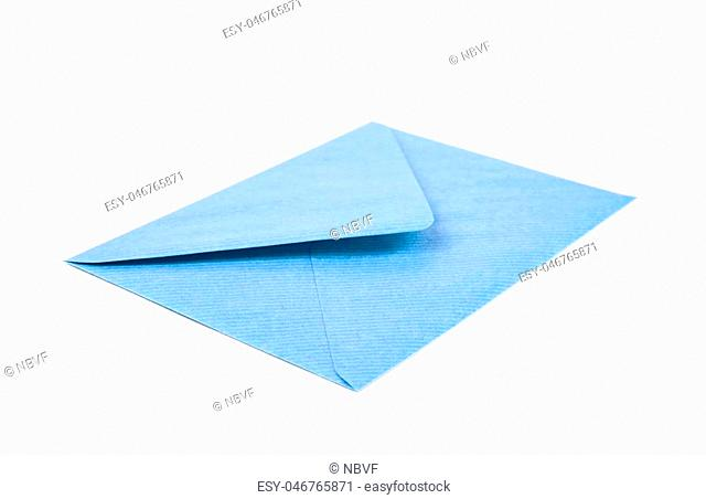 Single closed envelope isolated over the white background