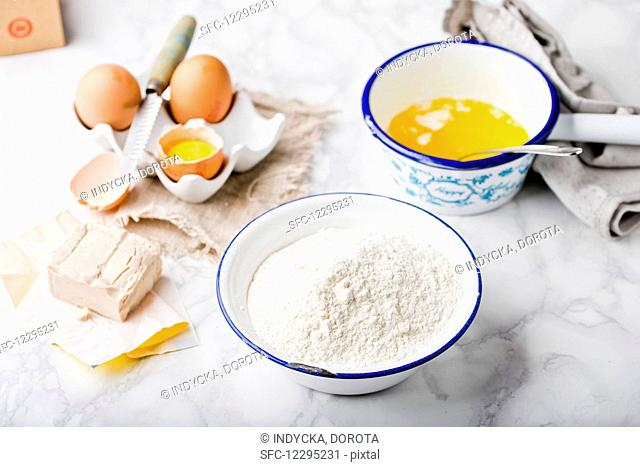 Various dough ingredients