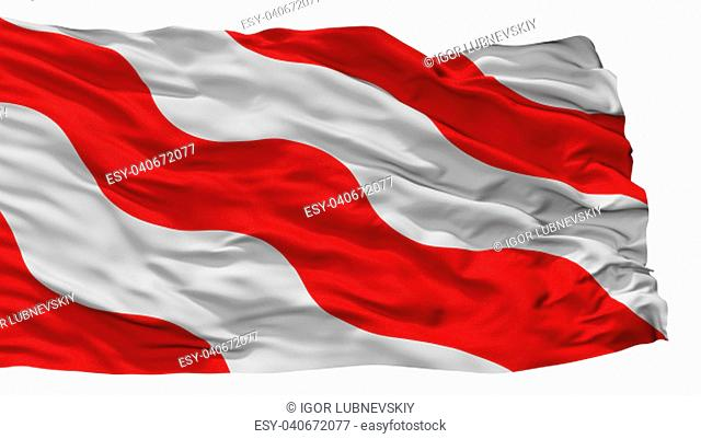 Antoing City Flag, Country Belgium, Isolated On White Background