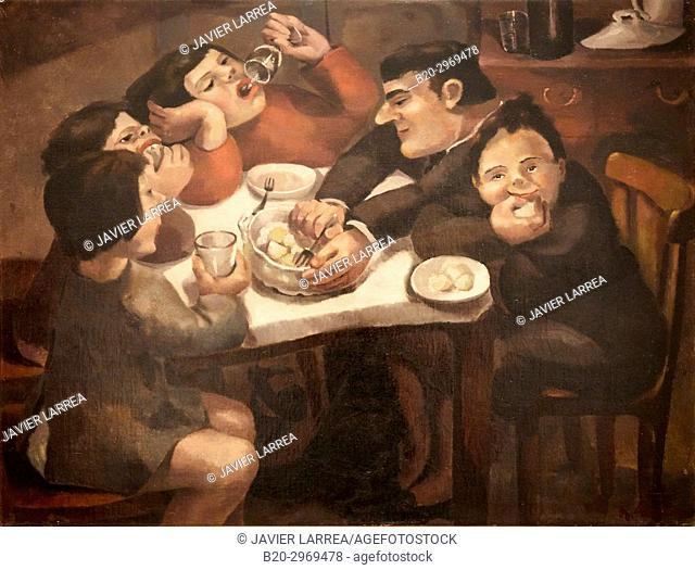Family Dinner, 1930, Ángeles Santos, Museo Nacional Centro de Arte Reina Sofia, Madrid, Spain, Europe