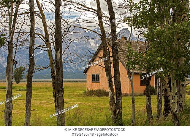 Old settlement in the Grand Tetons