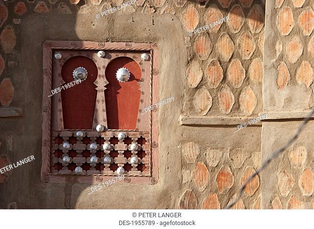 Yemeni Window In The Traditional Sudanese Architecture In Djenne, Mali